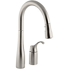 Simplice Pull-Down Kitchen Sink Faucet In Vibrant Stainless