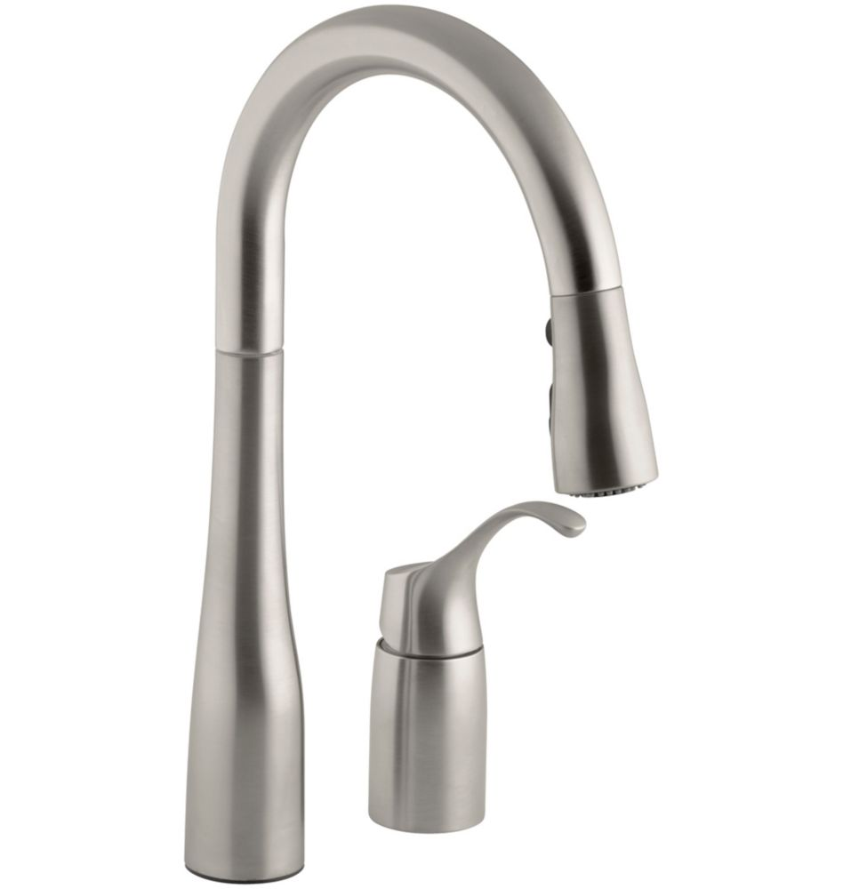Simplice Pull-Down Secondary Sink Faucet In Vibrant Stainless K-649-VS Canada Discount