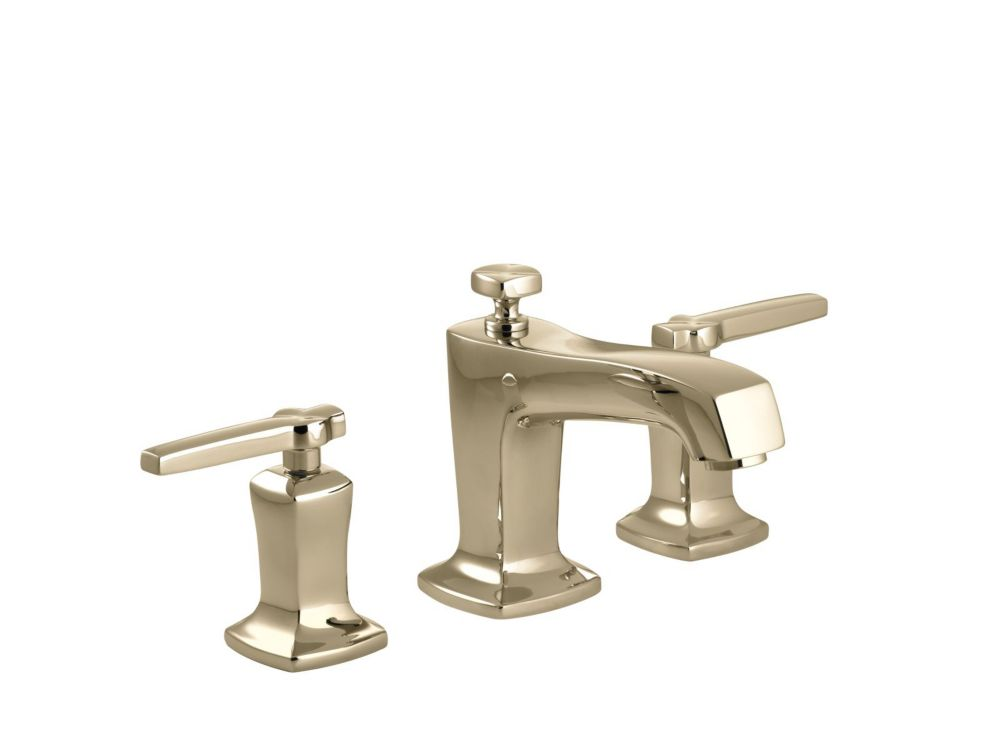 Margaux Widespread Bathroom Faucet in Vibrant French Gold Finish