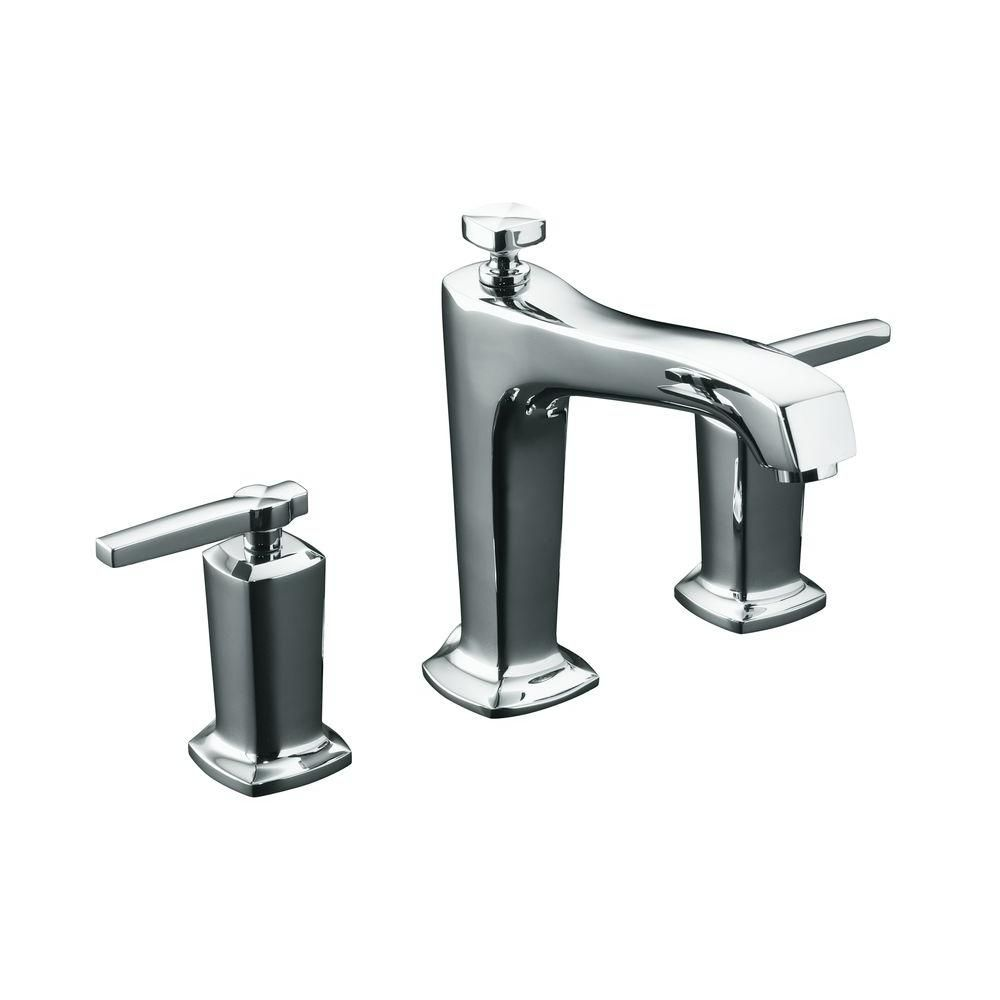 Margaux Deck-Mount High-Flow Bath Faucet in Polished Chrome