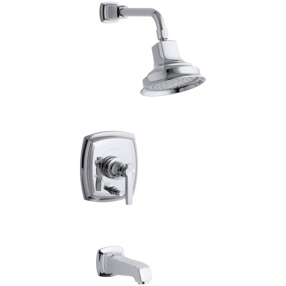 Margaux Rite-Temp Pressure-Balancing Bath/Shower Faucet in Polished Chrome