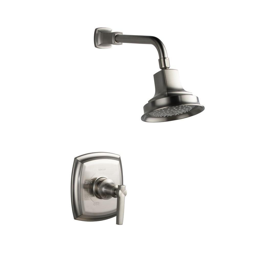 Garniture de robinet pour douche de la collection Margaux Rite-temp, avec poignée à volant