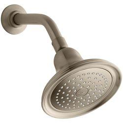 KOHLER Devonshire Single-Function Showerhead in Vibrant Brushed Bronze
