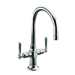 KOHLER HiRise(TM) single-hole bar sink faucet with lever handles