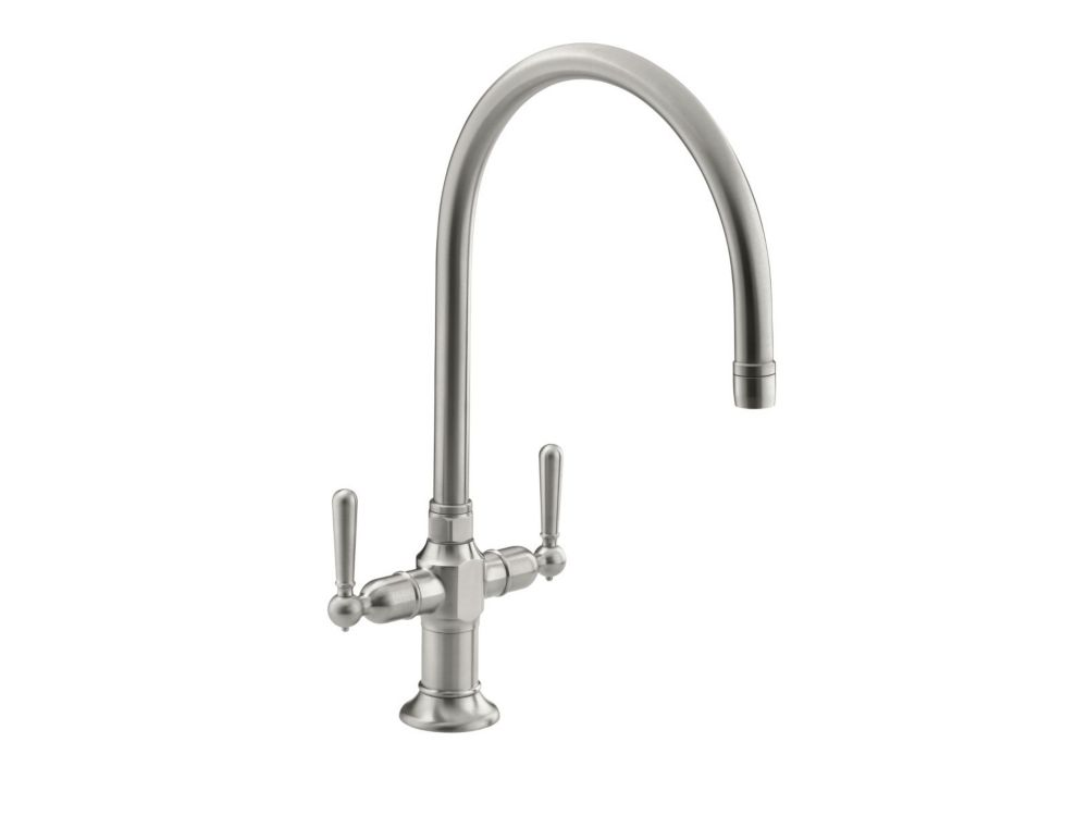 KOHLER Hirise Two Handle Kitchen Sink Faucet In Brushed
