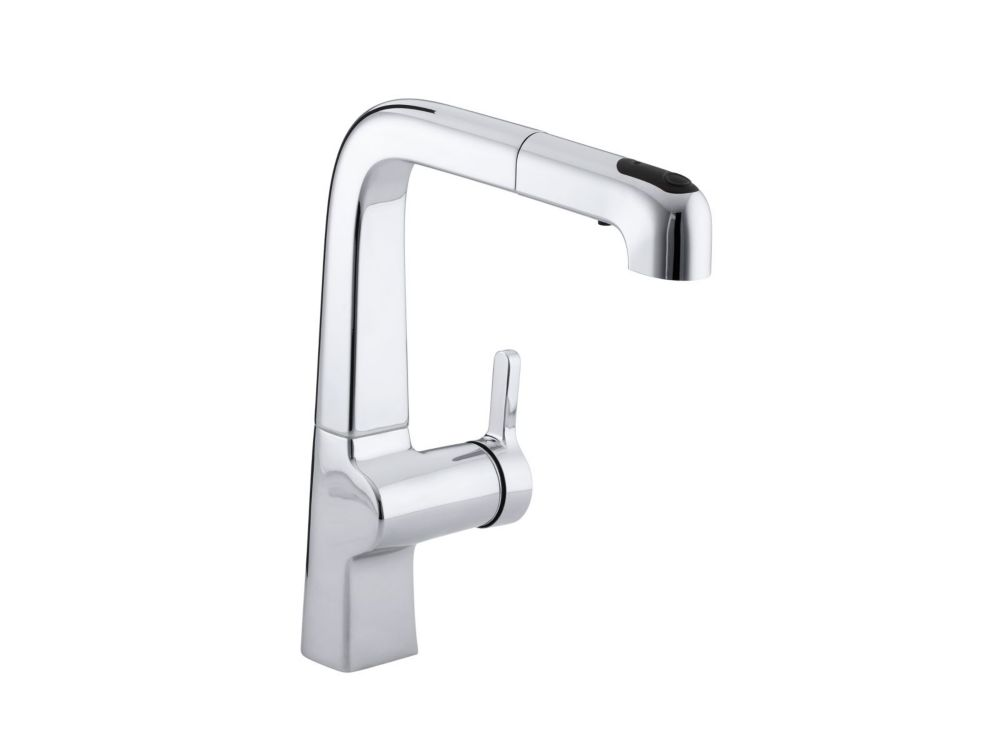 KOHLER Evoke Single-Control Pullout Kitchen Faucet In Polished Chrome