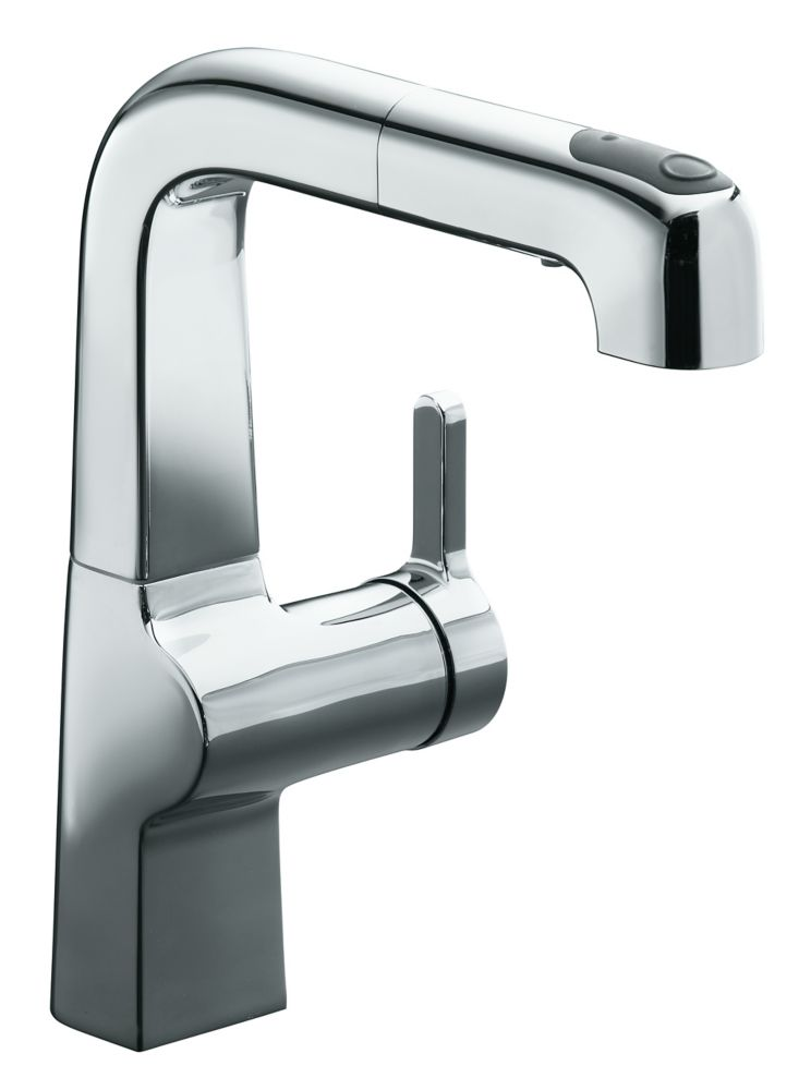 Evoke Single Control Pullout Secondary Kitchen Faucet In Polished Chrome K-6332-CP Canada Discount