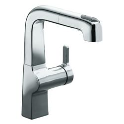 KOHLER Evoke Single Control Pullout Secondary Kitchen Faucet In Polished Chrome