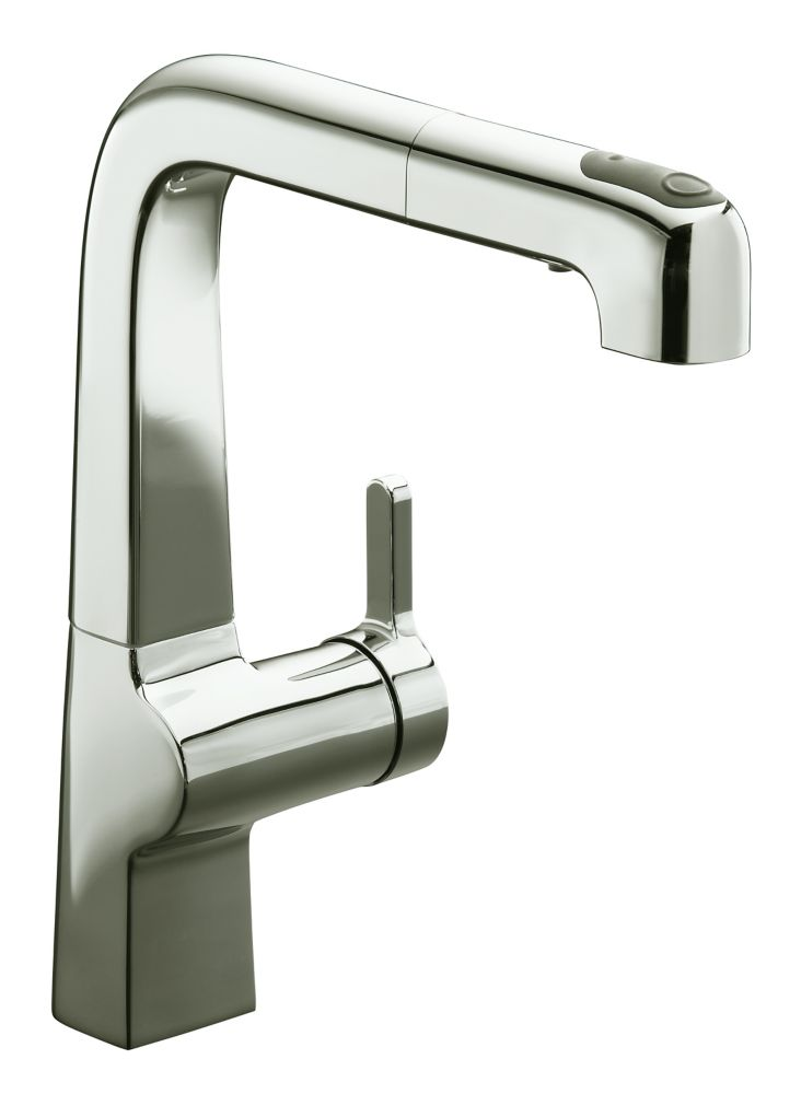 Evoke Single-Control Pullout Kitchen Faucet In Vibrant Polished Nickel K-6331-SN Canada Discount
