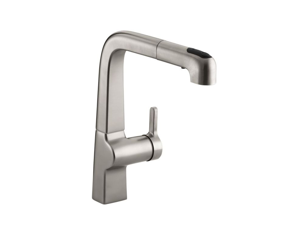 Evoke Single-Control Pullout Kitchen Faucet In Vibrant Stainless