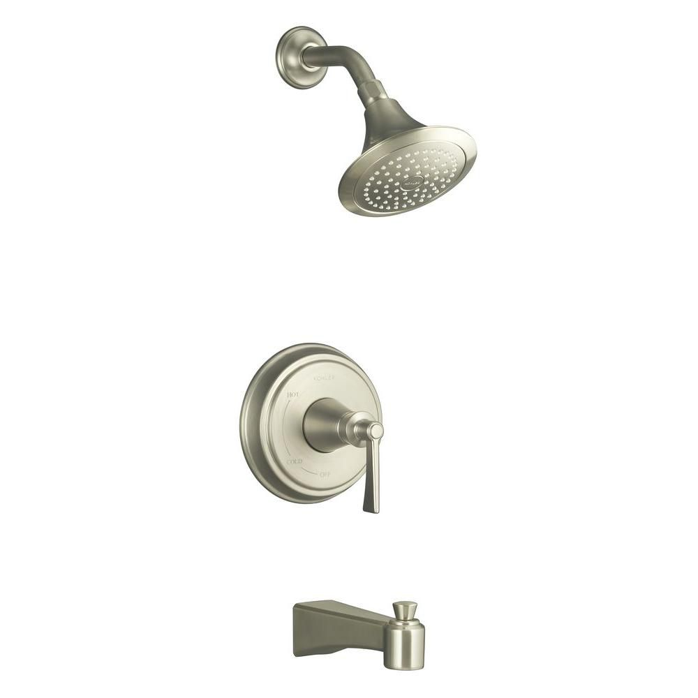 Archer Bath/Shower Faucet in Vibrant Brushed Nickel