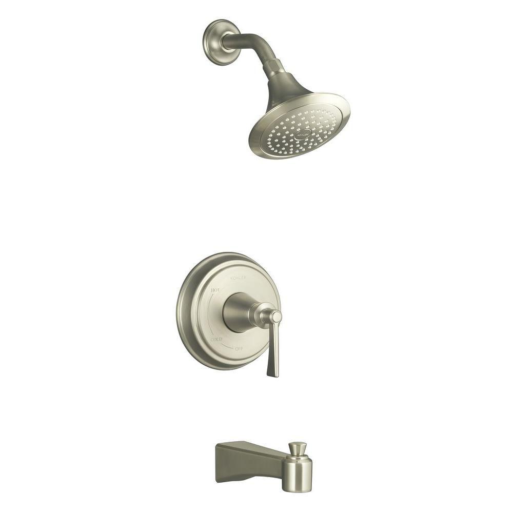 KOHLER Archer Bath/Shower Faucet in Vibrant Brushed Nickel
