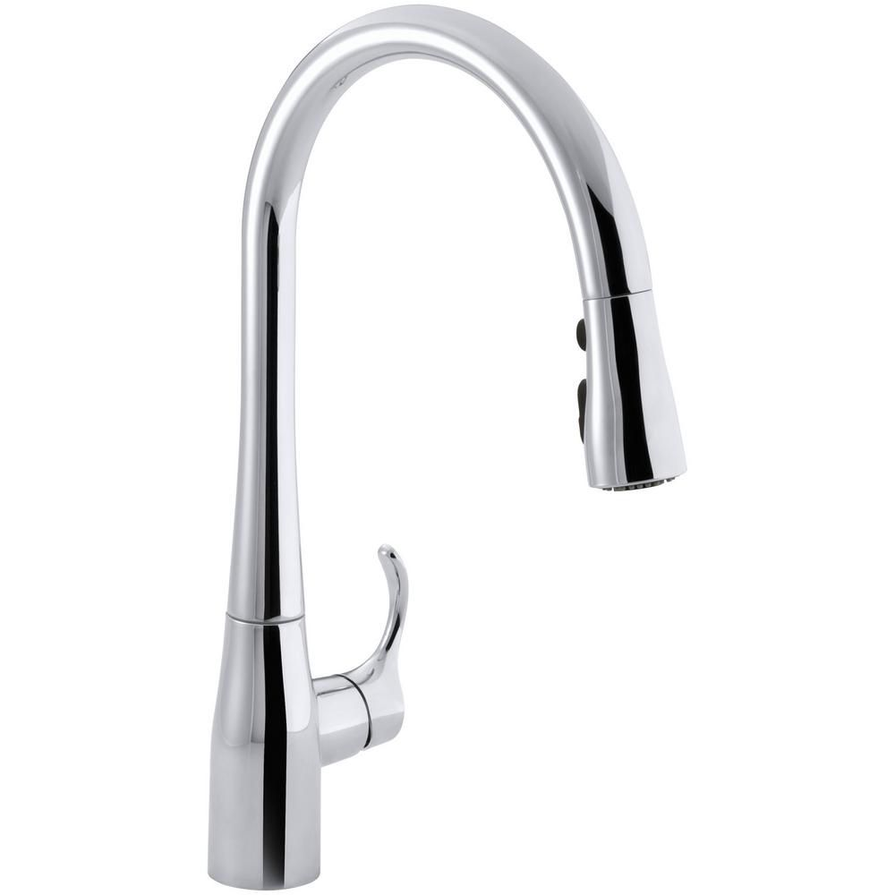 Kohler Simplice Single Hole Pull Down Kitchen Faucet In