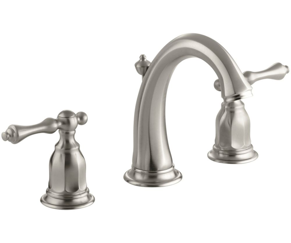 Kohler Kelston Widespread Lavatory Faucet In Vibrant Brushed Nickel The Home Depot Canada