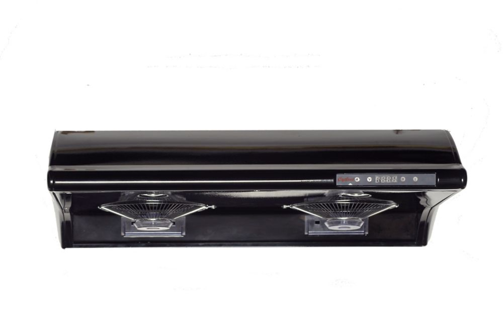 Cyclone CY3000R Undermount Range Hood with Rectangular Ducting in Black