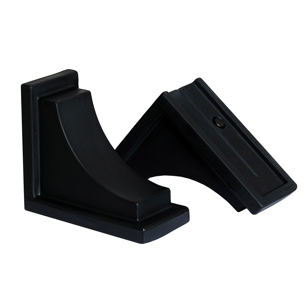 Nantucket Decorative Brackets Black - 2 Pack