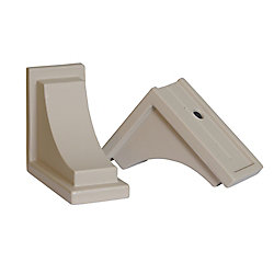 Mayne Nantucket Decorative Brackets in Clay (2-Pack)