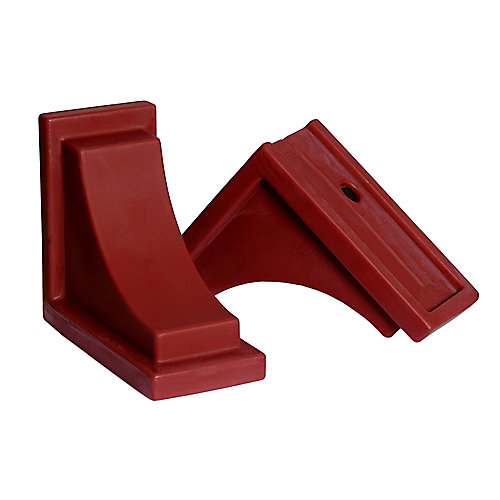 Nantucket Decorative Brackets in Red (2-Pack)