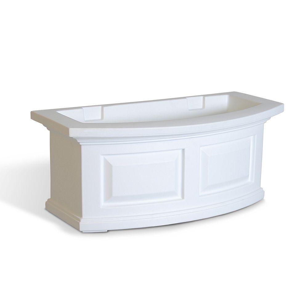 Nantucket 2 Feet Window Box White