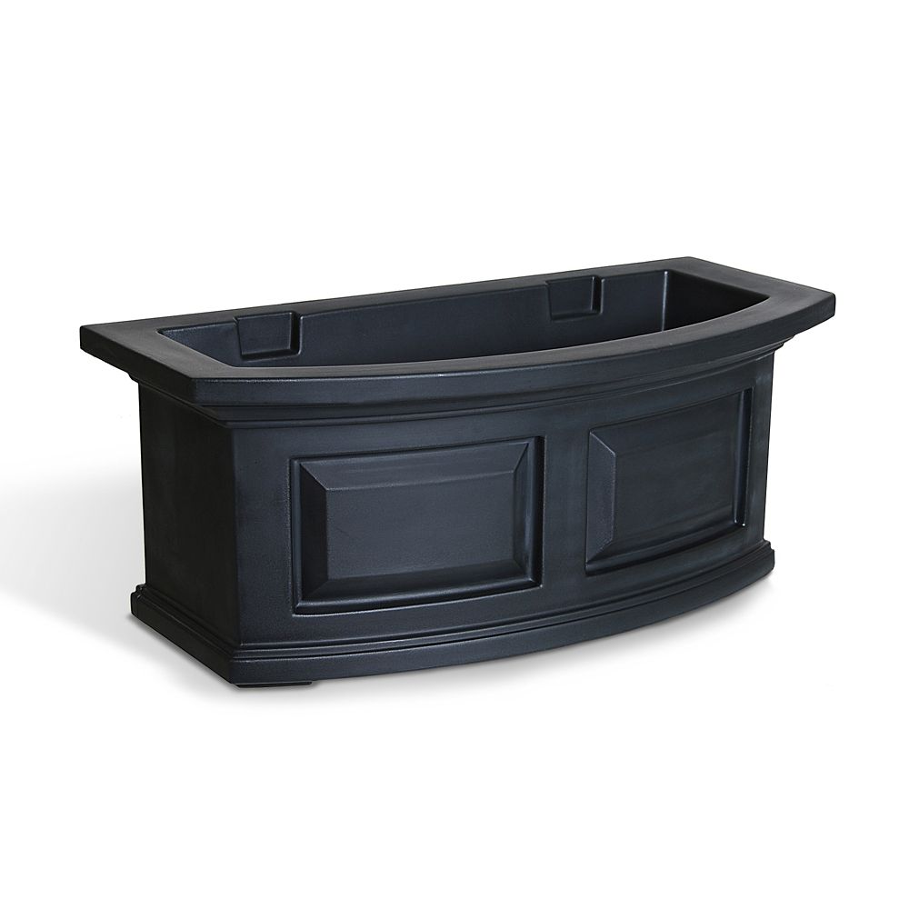 mayne nantucket 2 feet window box black the home depot