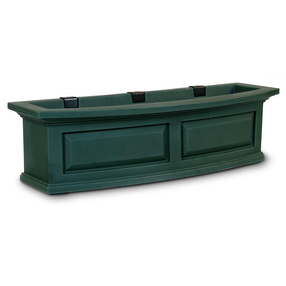 Jardinière de fenêtre Nantucket, vert, 91 cm (3 pi)
