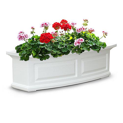 Jardinière de fenêtre Nantucket, blanc, 122 cm (4 pi)