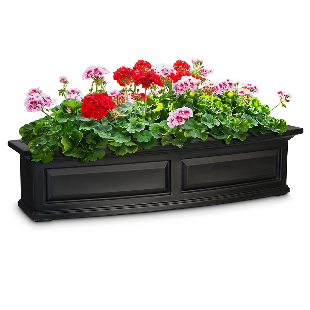 mayne nantucket 4 feet window box black the home depot