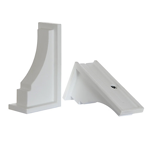 Fairfield Decorative Supports in White (2-Pack)