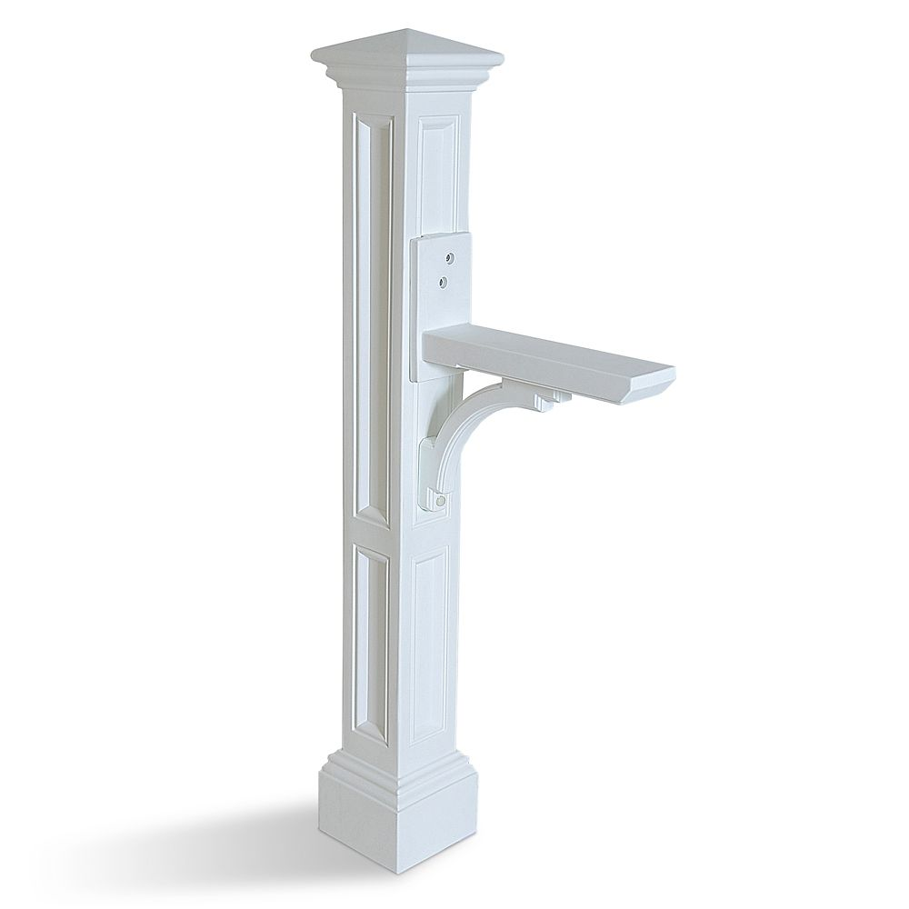 Poteau de boîte aux lettres Charleston (blanc)
