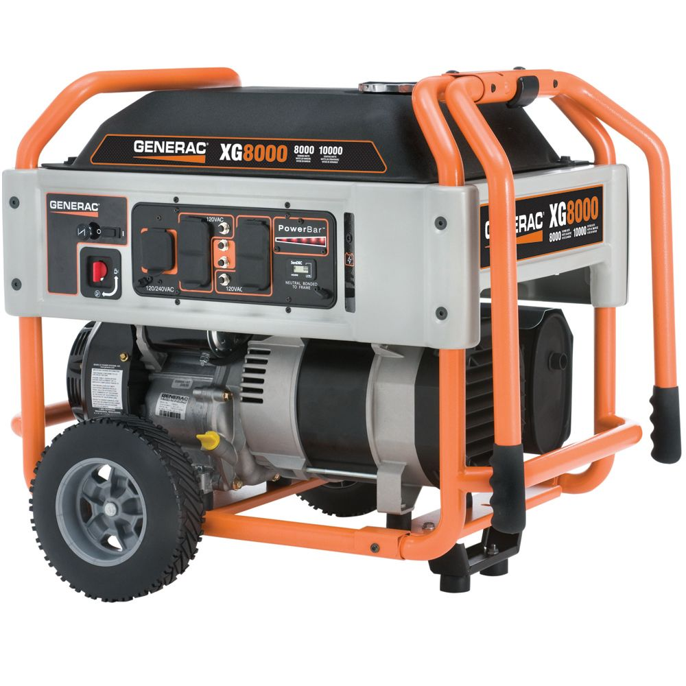 XG 8000 Watt Electric Start Portable Generator | The Home Depot Canada