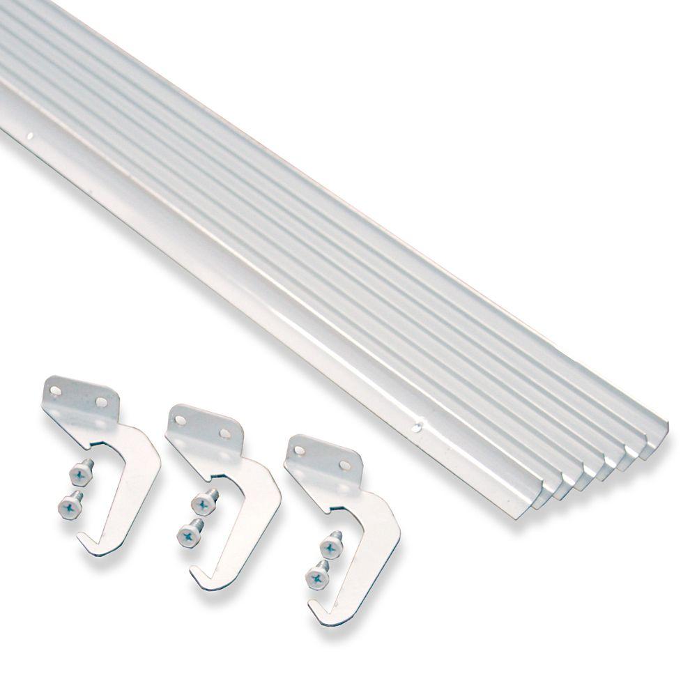 Value Pack de 10 pièces-support et vis, en aluminium de couleur blanche