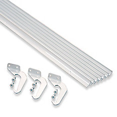 White Aluminum Rain Dispersing Eavestrough  10-Pack