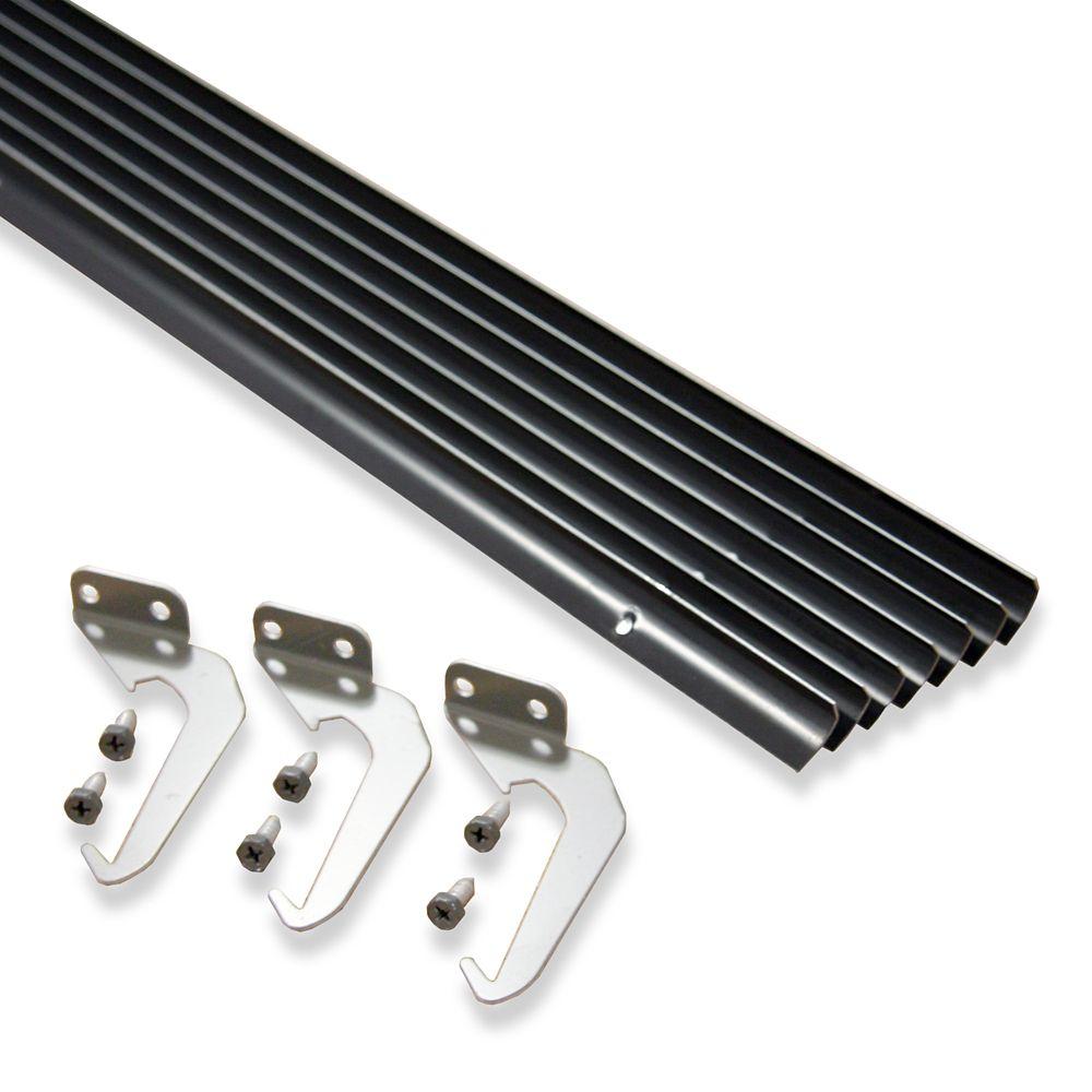 Value Pack de 10 pièces-support et vis, de couleur marron aluminium