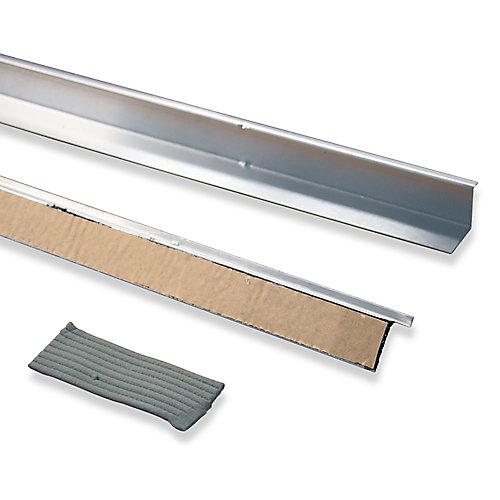 "Doorbrella (2- 36"" pieces and Putty Seal), Natural Aluminum"