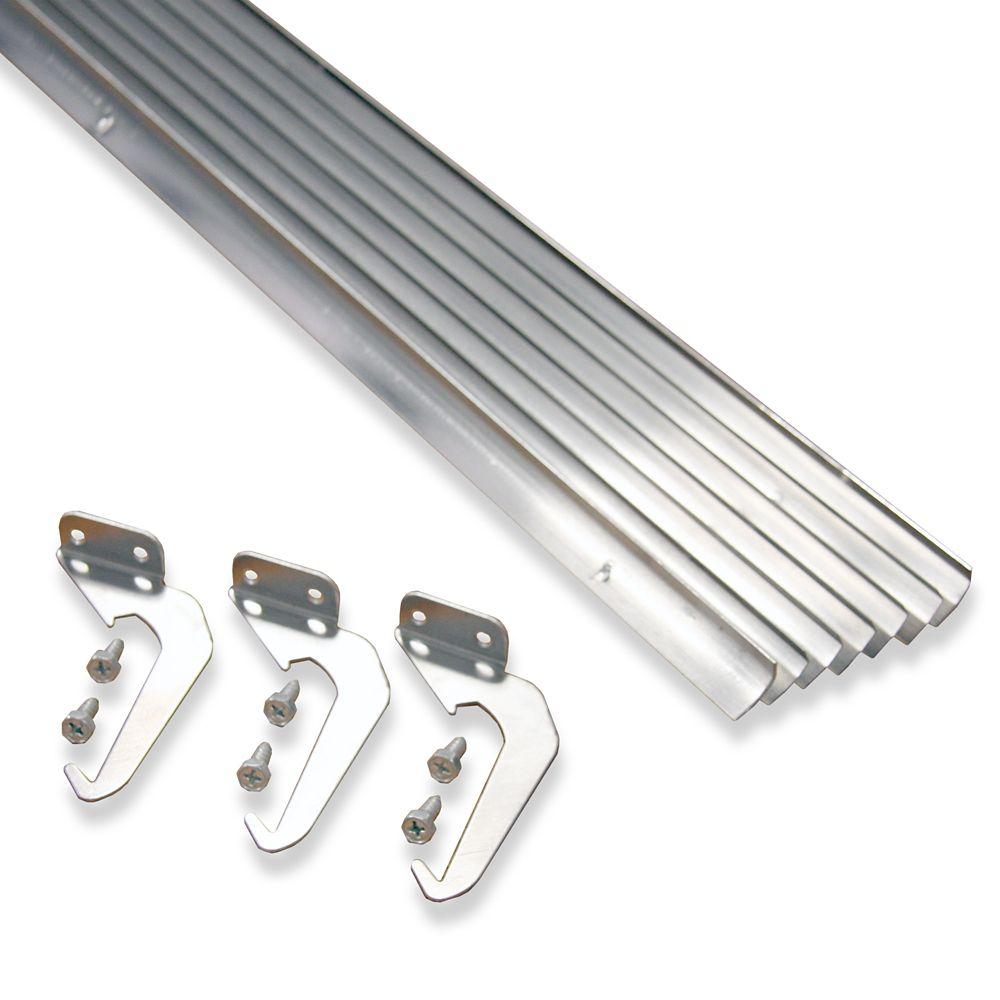 Value Pack de 10 pièces-support et vis, en aluminium naturel