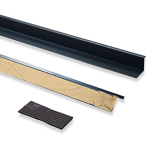 Doorbrella (2- 36-inch pieces and Putty Seal), Brown Colored Aluminum
