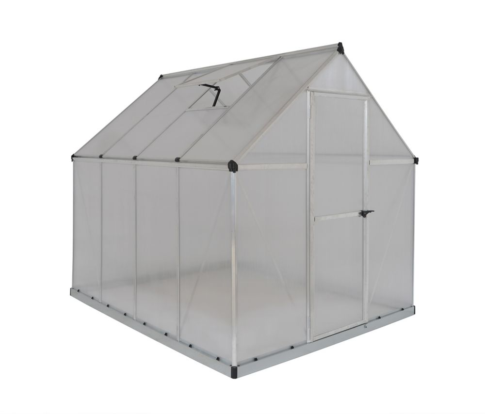 Palram Deluxe Nature Series 6 ft. x 8 ft. Green Greenhouse
