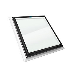 2 ft. x 2 ft. Fixed Self Flashing LoE3 Clear Glass Skylight with Black Frame