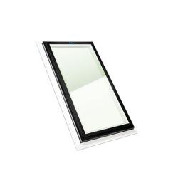 Columbia Skylights Puits de Lumière 2pi x 4pi Fixe, Solin Intégré verre transparent LoE3 trempée avec cadre brun