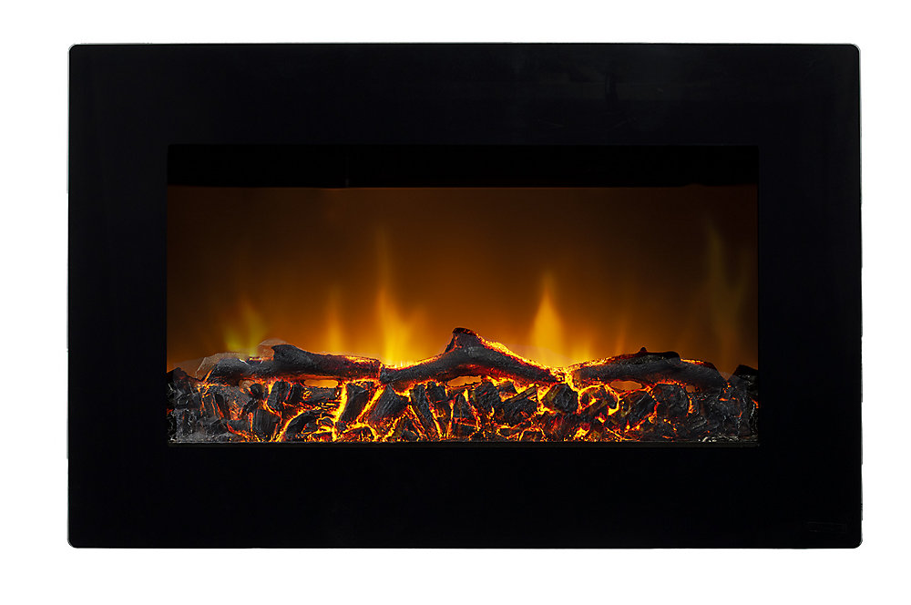Paramount Tokyo Wall Mounted Electric Fireplace In Black The Home