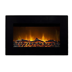 Tokyo Wall Mounted Electric Fireplace in Black