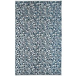 Lanart Rug Ocean Effervescence Blue 5 ft. x 7 ft. 6-inch Rectangular Area Rug