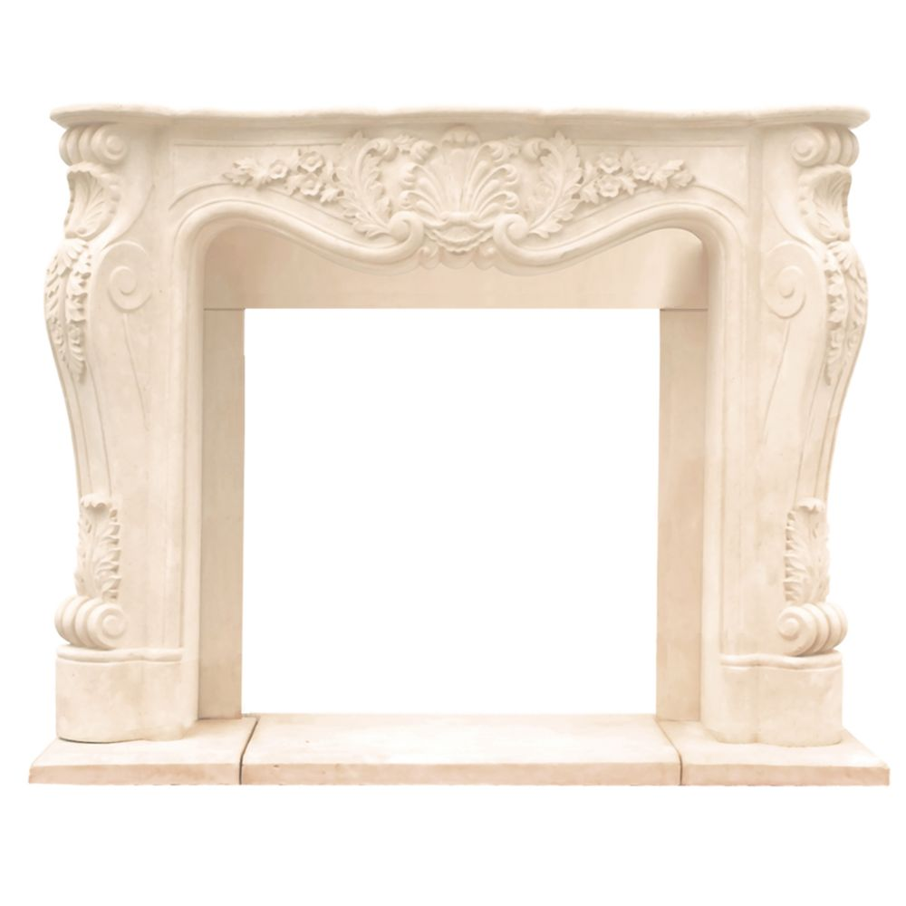 Chateau Series Louis XIII Cast Stone Mantel