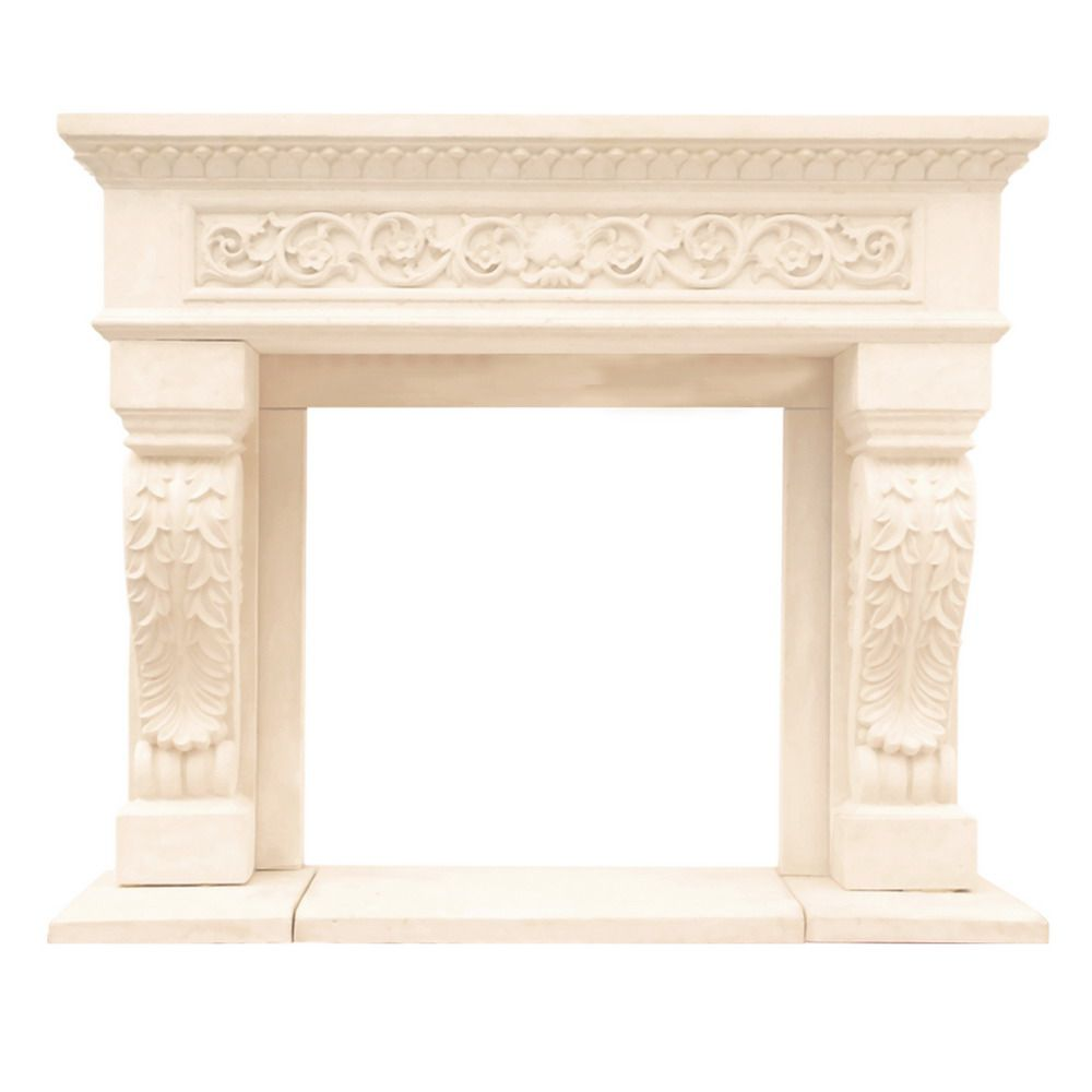 Historic Mantels Chateau Series King Henry Cast Stone Mantel