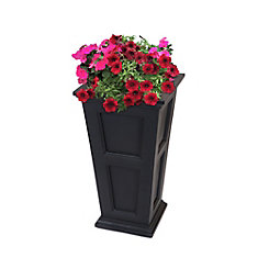 Fairfield Tall Planter in Black