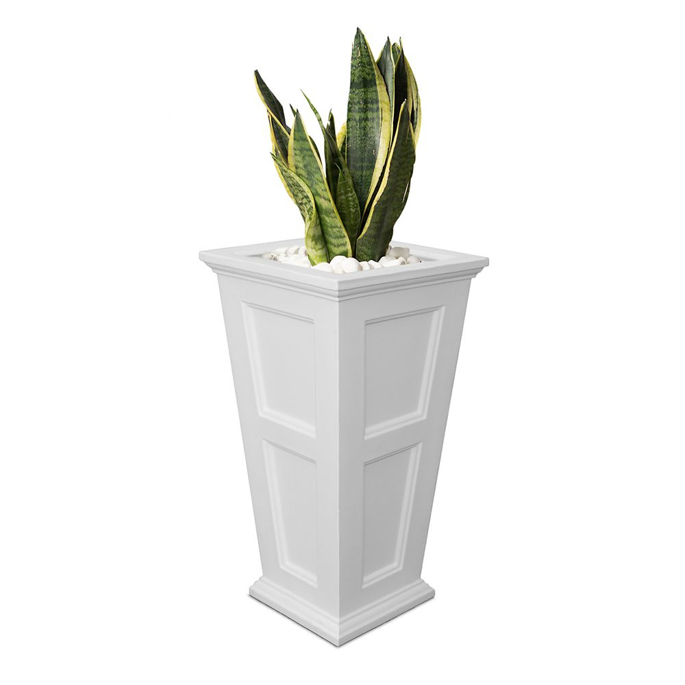 Fairfield Planter Tall, White