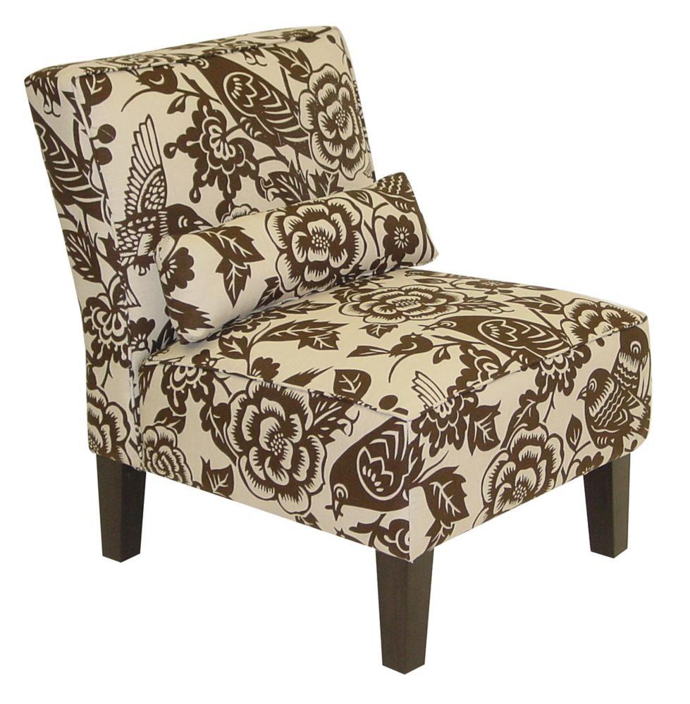 Armless Chair in Canary Earth