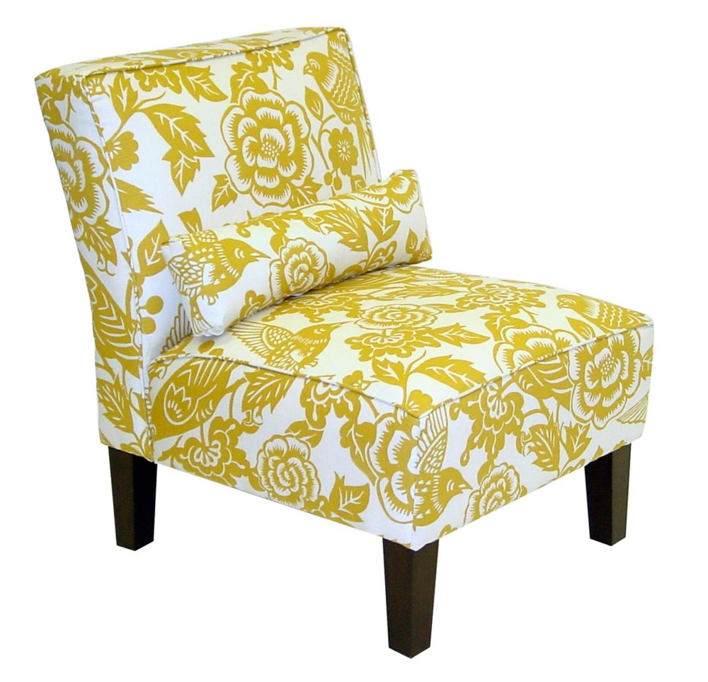 Armless Chair in Canary Maize