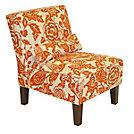 Skyline Furniture Traditional Slipper Cotton Armless