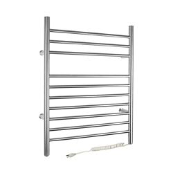 WarmlyYours 10-Bar Infinity Towel Warmer, Plug-In, Stainless Steel